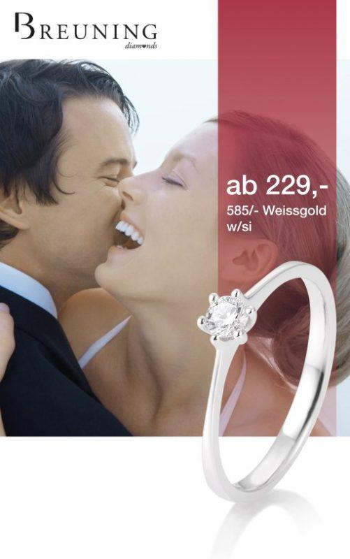 Den Diamant-Ring von Breuning gibt es jetzt zum Weihnachtspreis ab 229,- € exklusiv bei uns in Fürth und Mörlenbach.